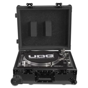 UDG Ultimate Flight Case Multi Format Turntable Black MK2 Plus (Trolley & Wheels)