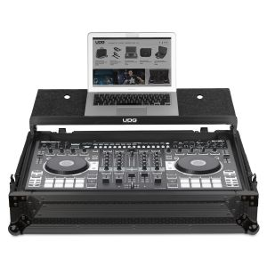 UDG Ultimate Flight Case Roland DJ-808 Black MK2 Plus (Laptop Shelf)