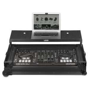 UDG Ultimate Flight Case Multi Format XXL Black Plus (Laptop Shelf, Trolley & Wheels)