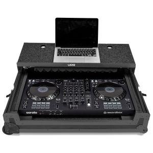 UDG Ultimate Flight Case Multi Format XXL Black Plus (Laptop Shelf, Trolley & Wheels)