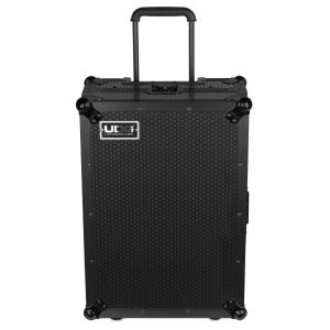 UDG Ultimate Flight Case Multi Format XL Black Plus (Laptop Shelf, Trolley & Wheels)