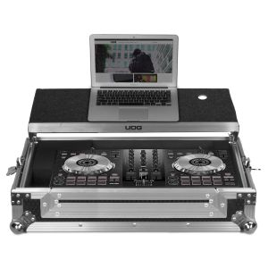 UDG Ultimate Flight Case Pioneer DDJ-SB2/ SB3/ DDJ-400 Silver Plus (Laptop Shelf)