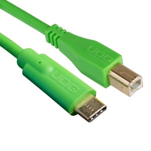 UDG Ultimate Audio Cable USB 2.0 C-B Green Straight 1.5m