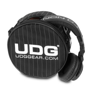 UDG Ultimate Headphone Bag Black/Grey Stripe